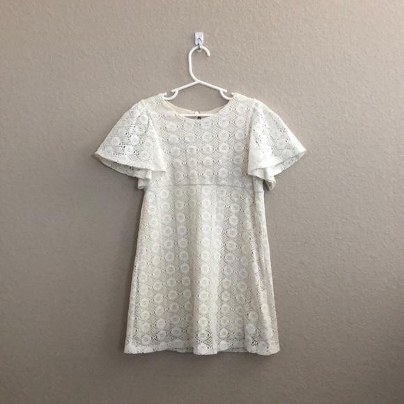 27b847298 Zara girls lace crochet flutter sleeve dress. M_5abac3cd2c705d5995294d96
